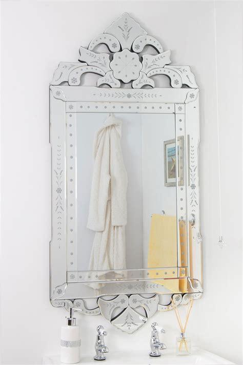 decorative venetian bathroom mirror   cm glass