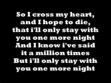 maroon 5 you and i go hard lyrics one more night maroon 5 lyrics youtube