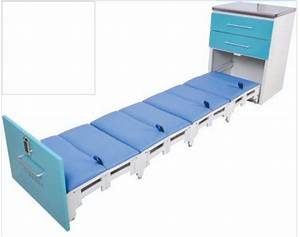 Mobile Adjustable Hospital Style Bedside Tray Table Cabinet