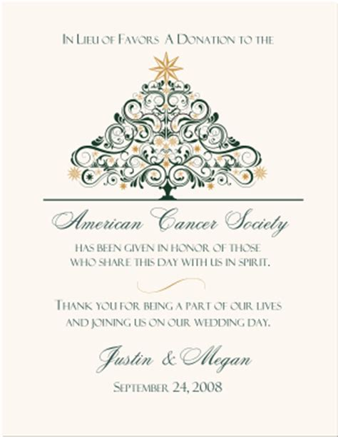 Corporate Charity Donation Card Template by Wedding Charity Donation Cards Celtic Themed Wedding Favor