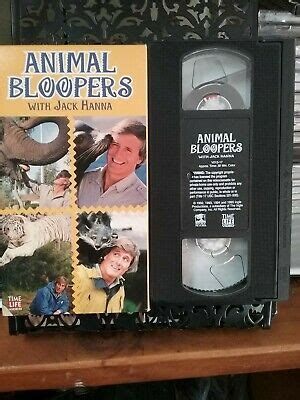 Animal Bloopers with Jack Hanna (VHS,1992,Slip Sleeve ...