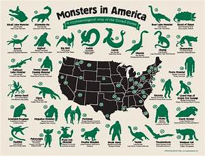 The Full Map Of Monsters In America!