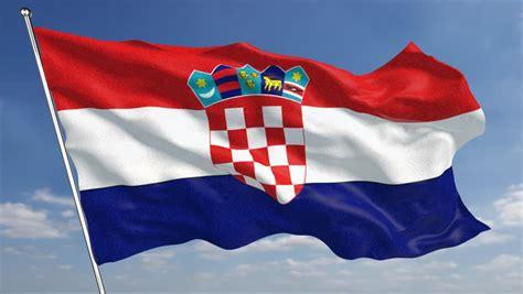 croatia flag animated stock footage video