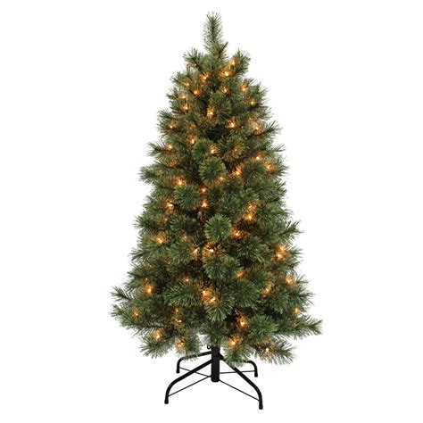 donner and blitzen tree donner blitzen 4 5 westchester slim pine tree with 150 clear never out