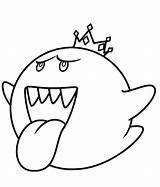 Boo Coloring King Mario Clipart Super Penguin Clip Popular Cliparts Clipartmag sketch template