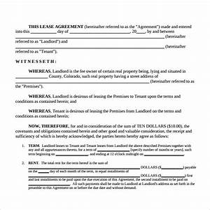 rental lease agreement samples examples formats 8 With housing lease template