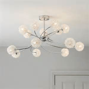 B And Q Ceiling Lights by Pallas Chrome Effect 14 Lamp Ceiling Light Departments