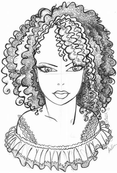 Coloring African Pages American Afro Hair Printable