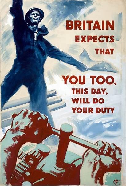 Propaganda Britain Poster Duty War Expects Too