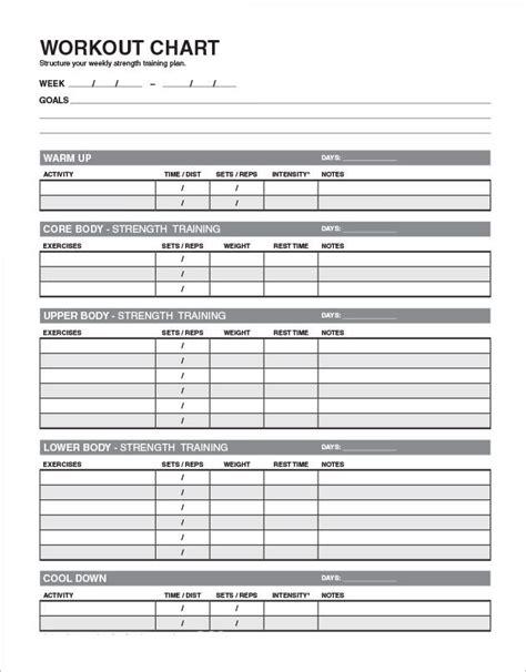 workout plan template pdf 5 sle workout schedules sle templates