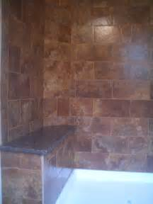 Tile Shower with Bench