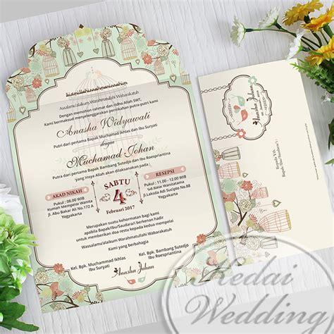 undangan pernikahan desain tema burung undangan pernikahan