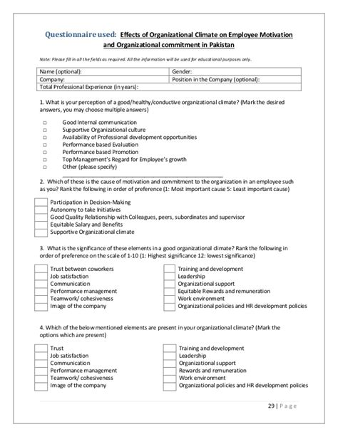 questionnaire for employee motivation Performance review evaluation survey templates positive or negative motivation between an employee self-evaluation questionnaire and those.