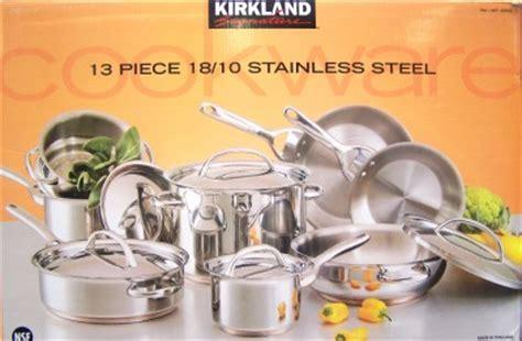 kirkland signature  stainless steel  piece cookware set