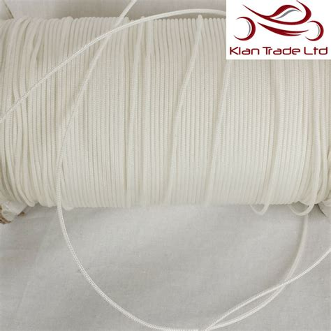 mm polyester nylon braided white curtain blind pull cord