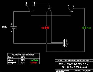 Diagram Of Temperature Sensors Dwg Block For Autocad
