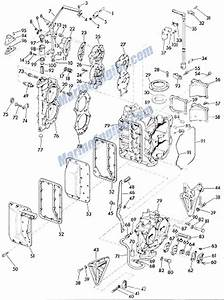 Evinrude Big Twin Crankcase And Cylinder Parts For 1960