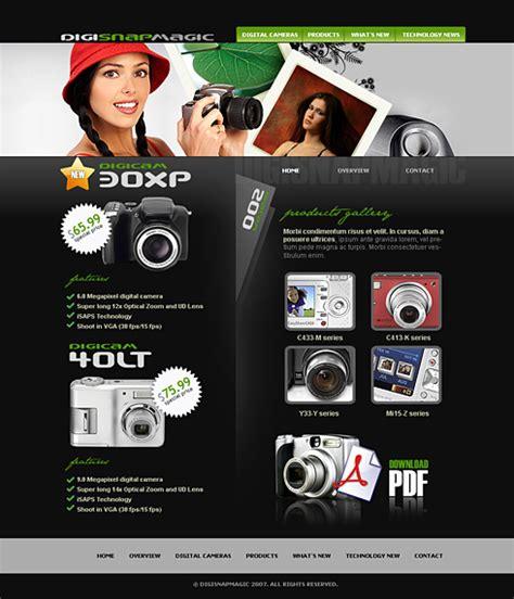 Digital Camera Web Template  2415  Electronics & Gadgets