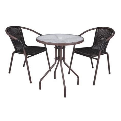 table et chaise bistrot 2 chaises bistro empilable table ronde verre achat