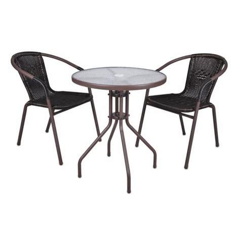 table et chaise balcon pas cher 2 chaises bistro empilable table ronde verre achat