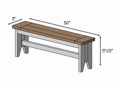 Bench Farmhouse Plans Diy Dimensions Build Table