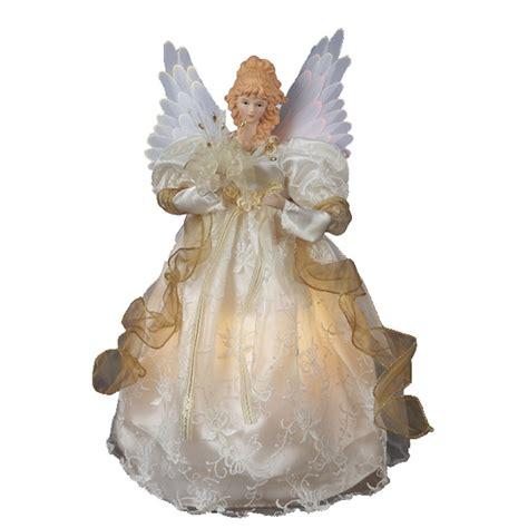 lighted fiber optic angel tree toppers christmas time