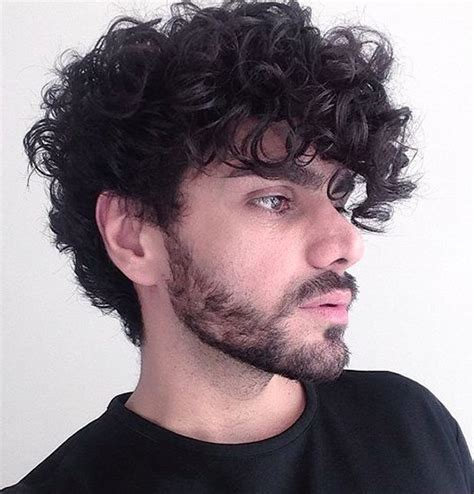 cool haircuts  men  curly hair hairstyle