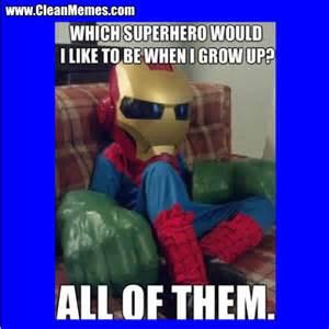 Clean Funny Superhero Memes