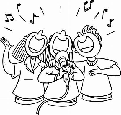 Singing Coloring Pages Sing Grade 3rd Singer