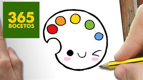 como dibujar paleta de colores kawaii paso a paso dibujos kawaii faciles draw a color
