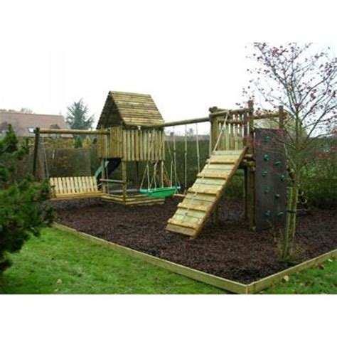Langley Swing by Langley 174 Play Fort Ladder Walk And Swing Combination