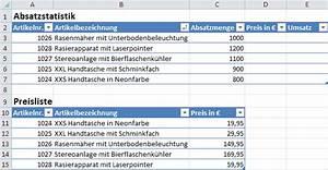 Umsatz Berechnen Excel : excel sverweis funktion ~ Themetempest.com Abrechnung