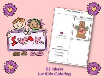 dj inkers valentine printables  images printable