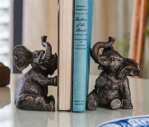 bookends trumpeting elephant bookends book ends