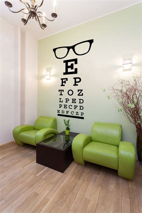 glasses decal eye chart decal wall decal letters eye