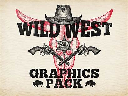 Wild West Graphics Pack Western Dribbble Illustration