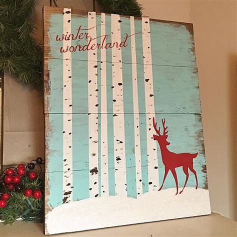 winter wonderland wooden sign project  decoart