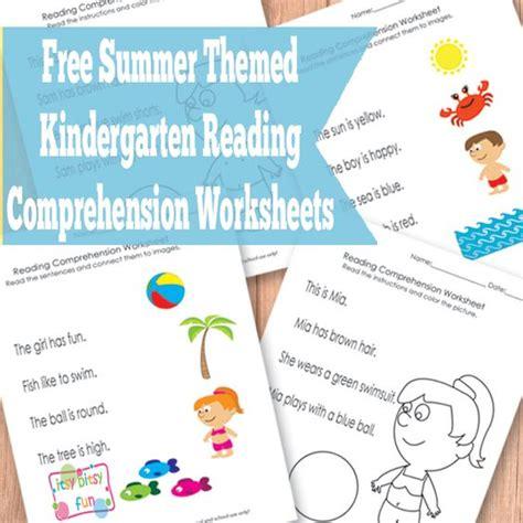Free Summer Kindergarten Reading Comprehension Worksheets  Kid Blogger Network Activities
