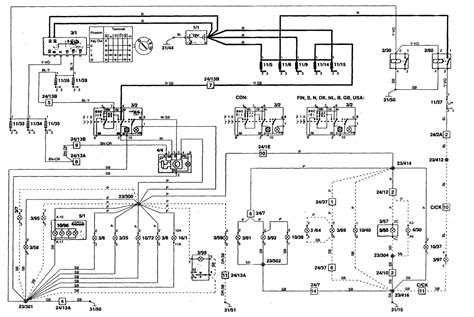 volvo 850 1996 1997 wiring diagrams instrument