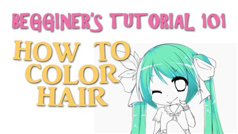 Speedpaintbeginners How To Color Hair (quick&easy) Youtube