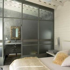 Petite Salle De Bain Ouverte Sur Chambre : une chambre ouverte sur la salle de bains c t maison ~ Melissatoandfro.com Idées de Décoration