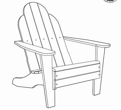 Chair Adirondack Plans Clipart Beach Coloring Muskoka