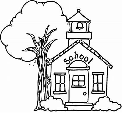 Coloring Building Pages Clipart Colouring Printable Wecoloringpage