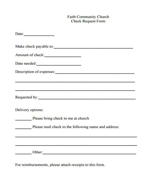 check request form template 29 sle check request form