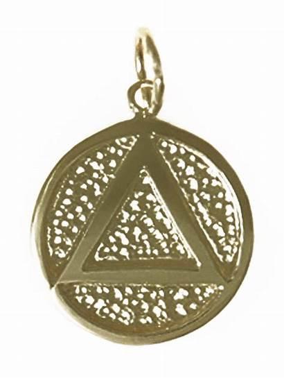 Symbol Aa Medallion Brass Pendant My12stepstore