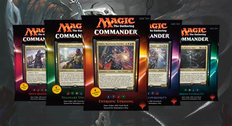mtg commander decks 2016 all hail commander 2016 decks