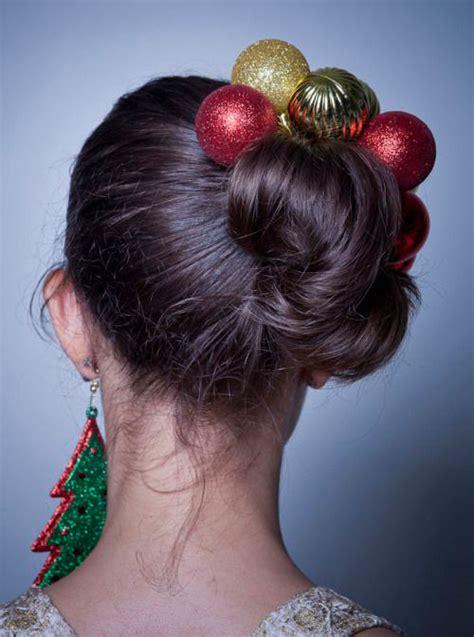 creative christmas themed hairstyle ideas  xmas