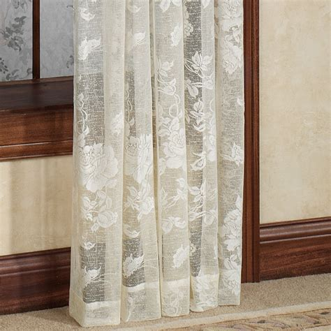 Lace Drapery Panels by Floral Lace Window Treatment