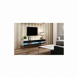 meuble tv vigo 180 blanc et noir sejour meuble tv With petit meuble d entree design 9 meuble tv vigo 180 noir ou blanc sejour meuble tv