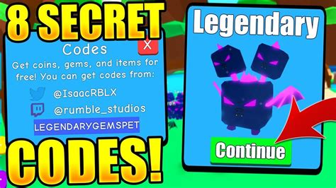 secret pet codes  bubble gum simulator roblox youtube